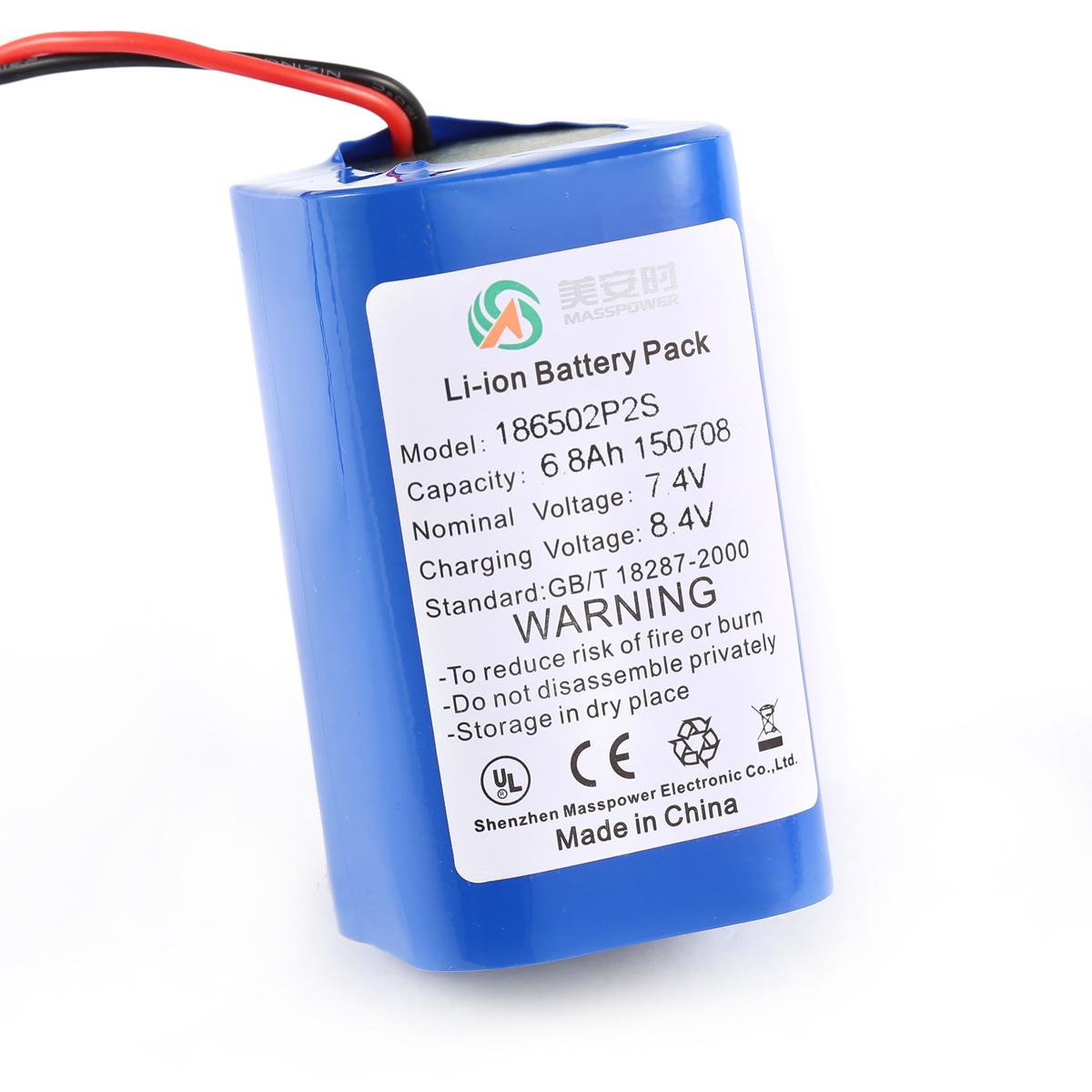 7.4V 6.8Ah丨矿灯锂电池